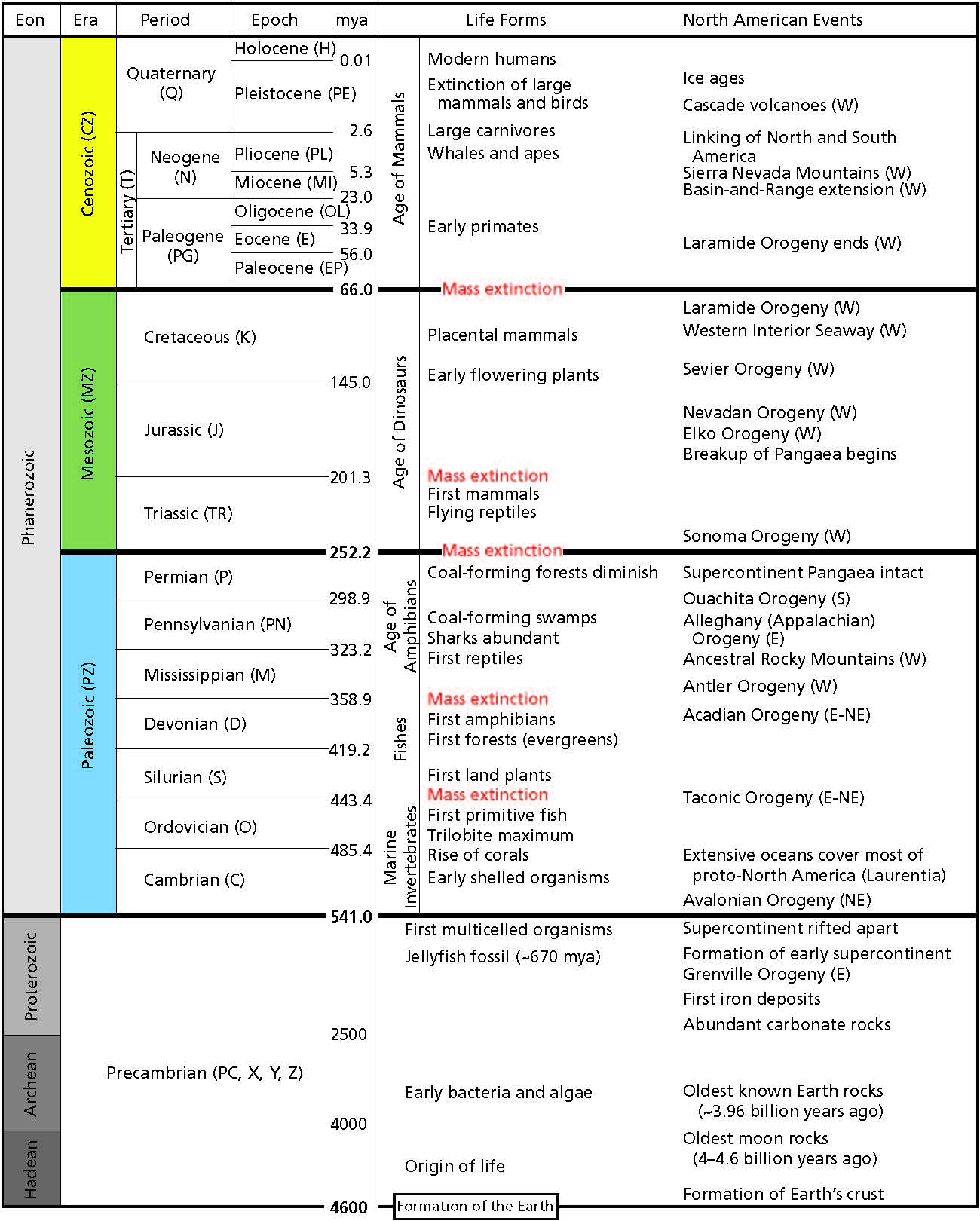 Geologic Time Worksheet Berkeley