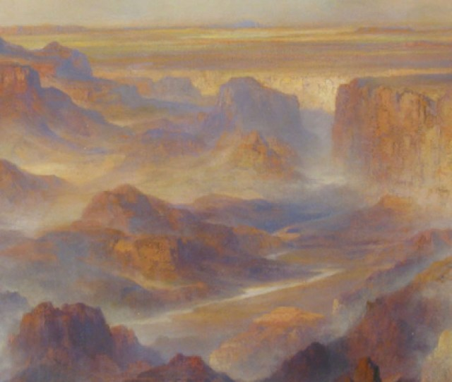 Image Of Painting Titled Grand Canyon Scene At Eastern End Of Canyon