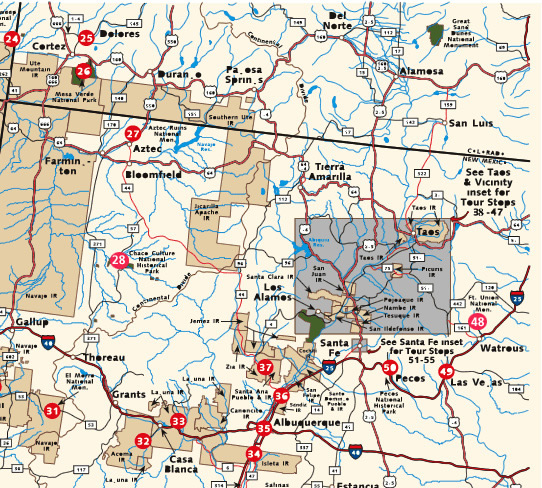 Map of vacation travel destinations on this website our staff reviews some of our favorite road trips and popular travel destinations across north america. American Southwest Map Part 3 American Southwest A National Register Of Historic Places Travel Itinerary