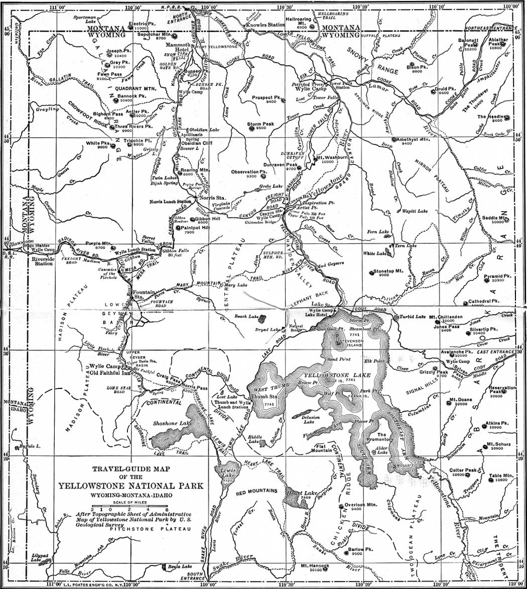 Yellowstone Np Geological History Of The Yellowstone