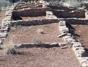 partially reconstructed walls show outlines of rooms