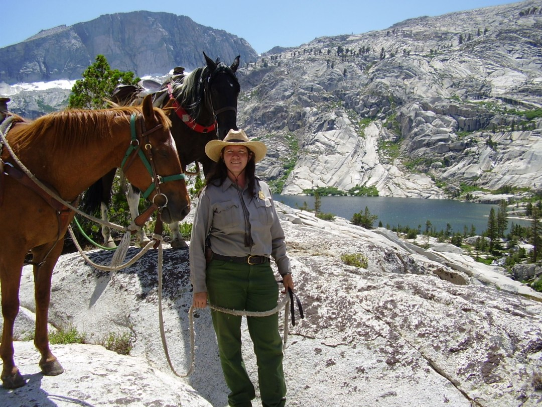 Wilderness Ranger with horses at Colby Lake