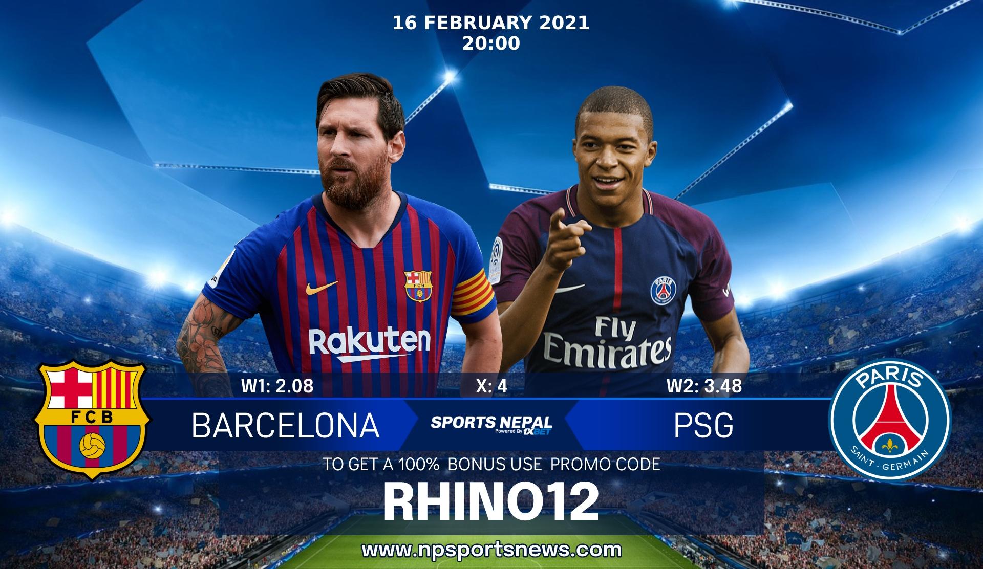 barcelona vs psg uefa champions league nepal sports