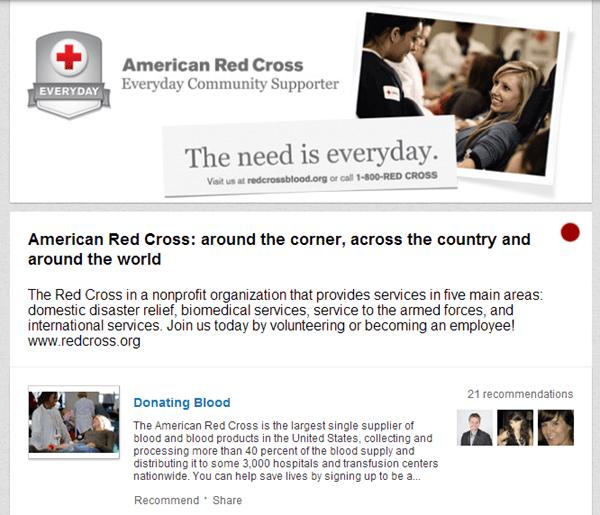 Red Cross on LinkedIn