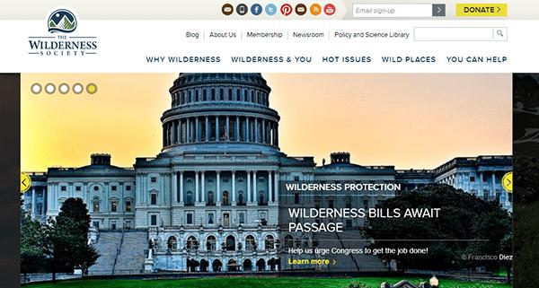 wilderness society responsive