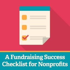 Fundraising Success Checklist Nonprofit Facebook
