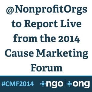 Square Graphic Annoucement Nonprofits at Cause Marketing Forum