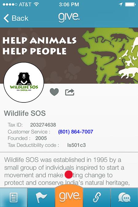 wildlife sos app giving yeah