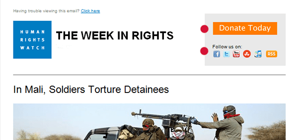 human rights watch enews