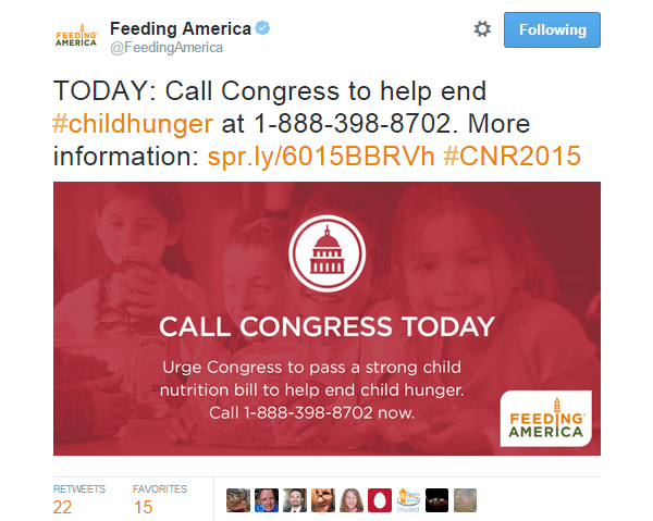 Twitter Image Feeding America