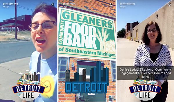 Service Works on Snapchat