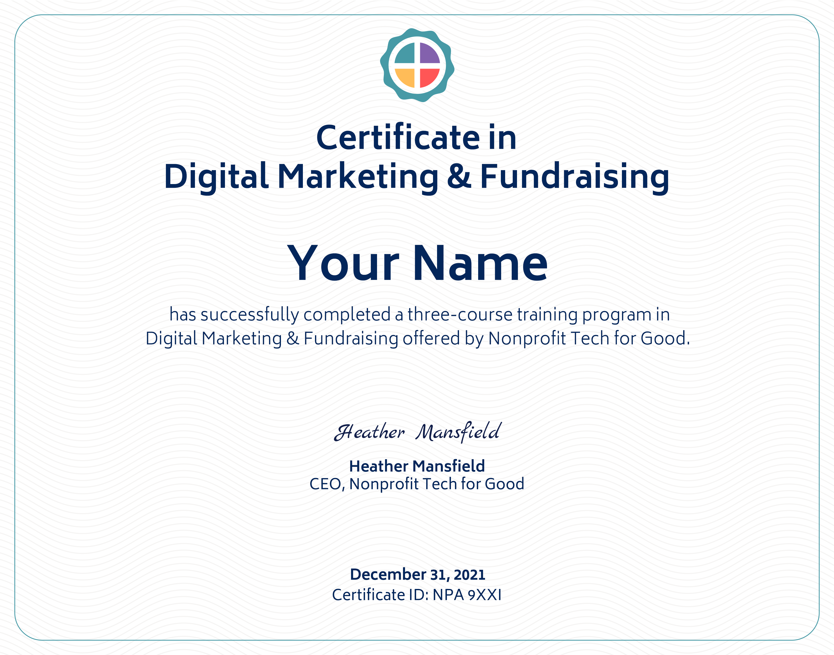 Earn a Certificate in Digital Marketing & Fundraising from Nonprofit Tech for Good