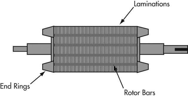 Diagram of a squirrel cage motor