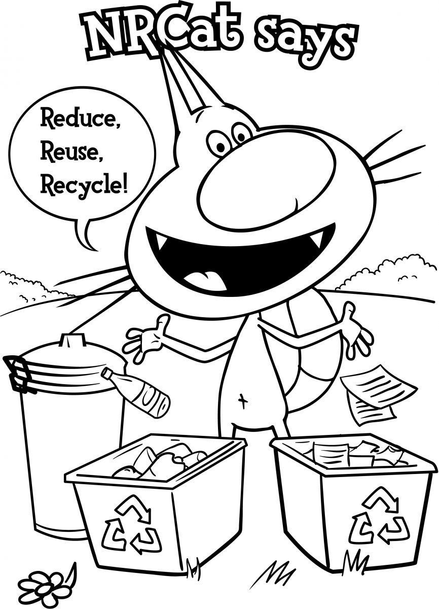 Recycle Reduce Reuse Coloring Pages