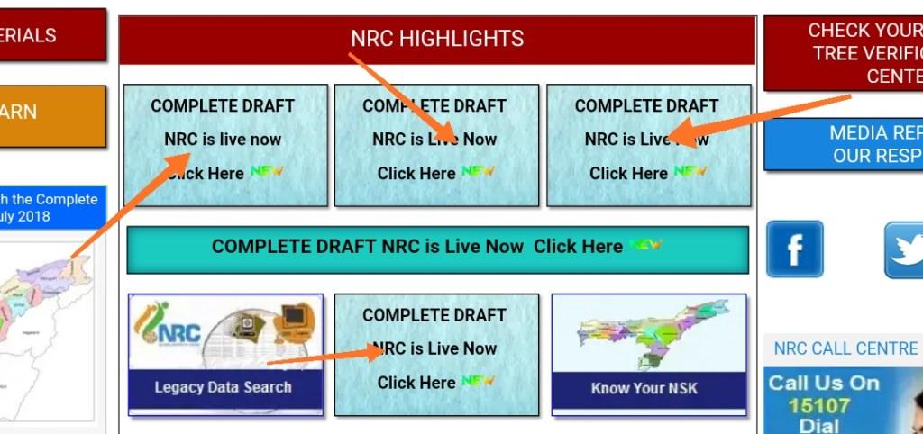 NRC Assam Official Website