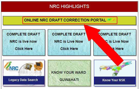ONLINE NRC DRAFT CORRECTION PORTAL
