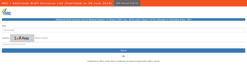 ARN Based Search Additional Draft NRC Exclusion List Aaddnl.nrcdrafts.com