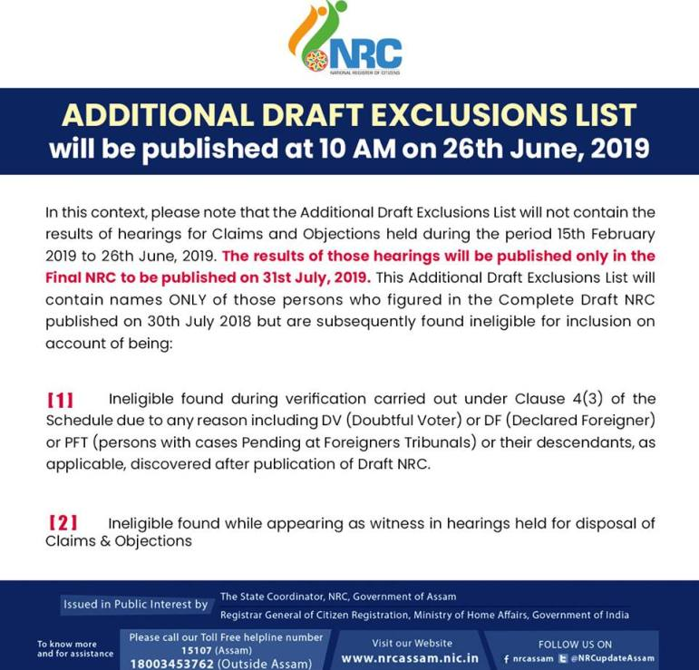 Additional Draft NRC List