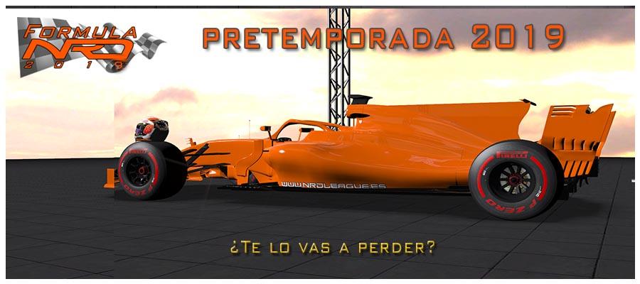 FormulaNRD 2019-20, PRETEMPORADA.