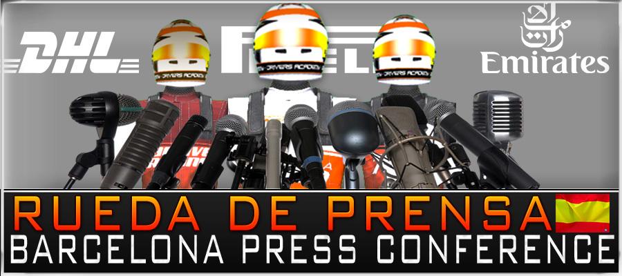 Salida, Rueda de Prensa, GP España.