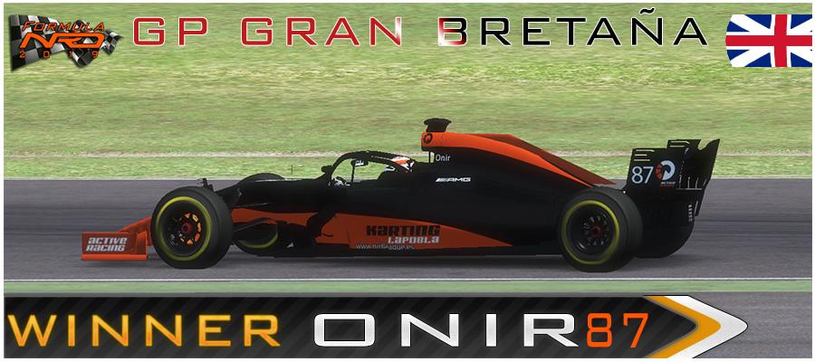 GP10 Gran Bretaña. Onir, se lleva la victoria en la ultima vuelta