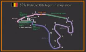 Gran Premio de Bélgica @ Circuito Spa 31 vueltas