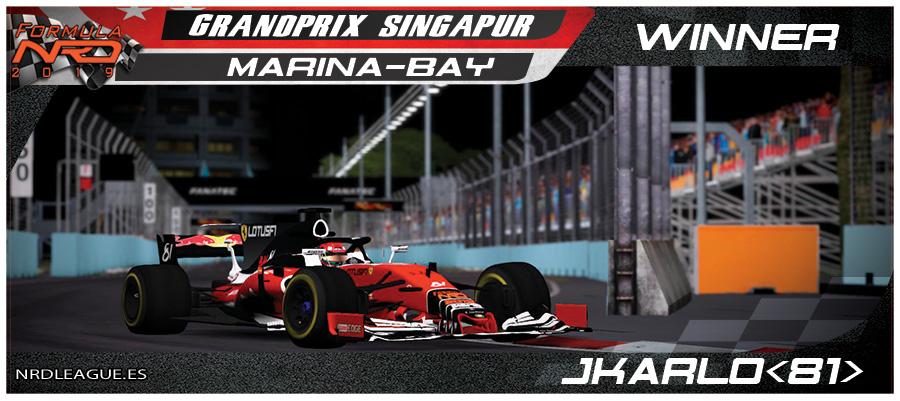 GP Singapur, jkarlo gana en Marina-Bay con final de infarto.