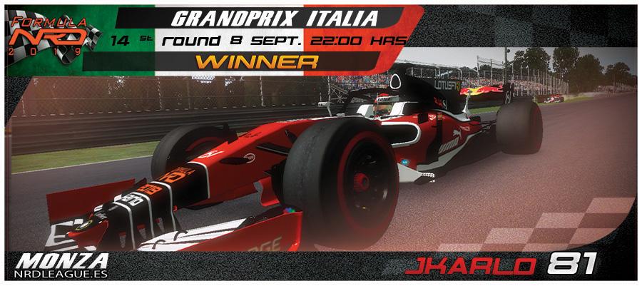 GP Italia, jkarlo sorprende en Monza, Pole y Victoria