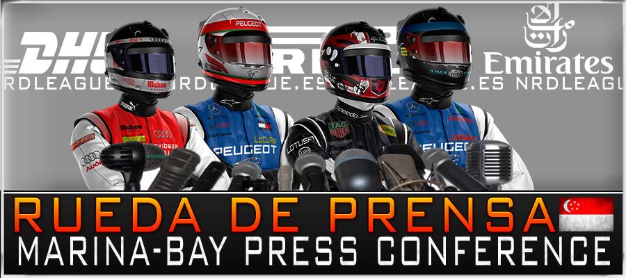 Rueda de Prensa GP Singapur