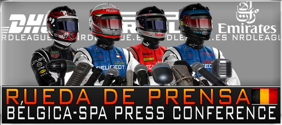 Rueda de Prensa, GP Bélgica.