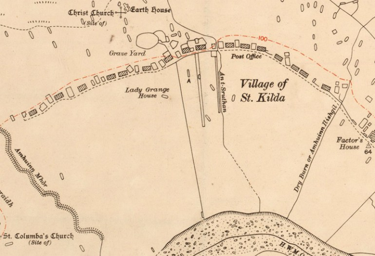 An ordnance survey of the island of Hirta in St Kilda Courtesy of the National Records of Scotland