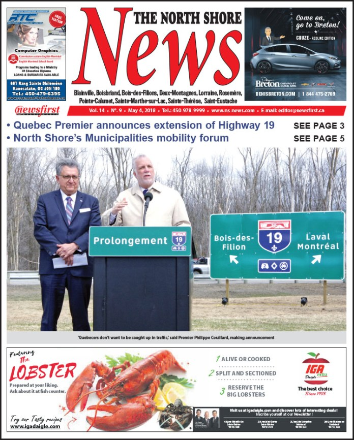 Front page image of the North Shore News 14-09