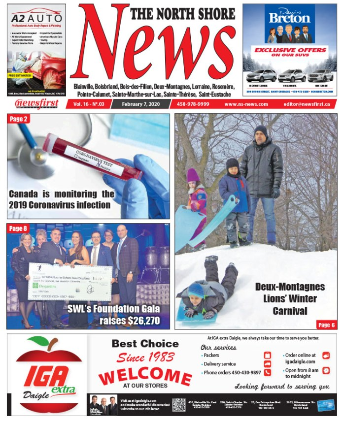 Front Page of the North Shore News 16-03