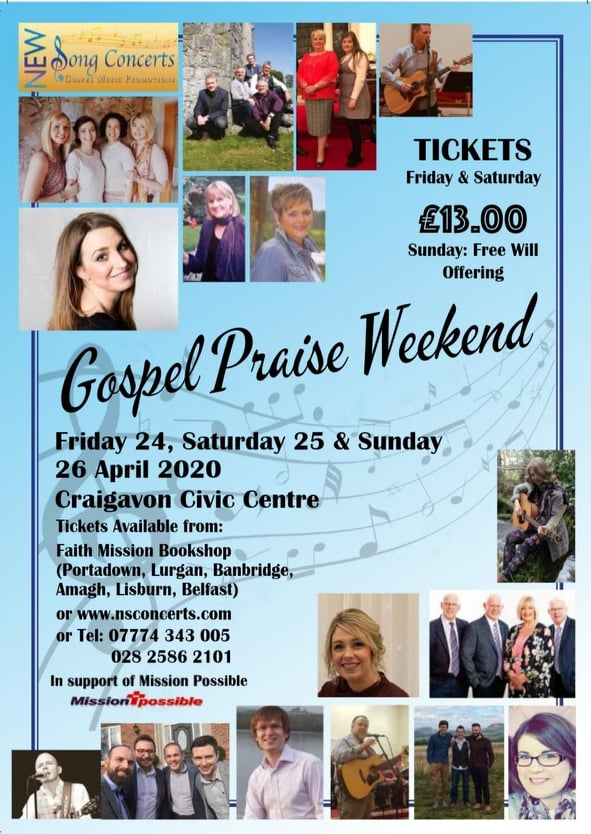 gospel praise weekend flyer