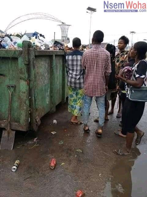Baby found in trash bin
