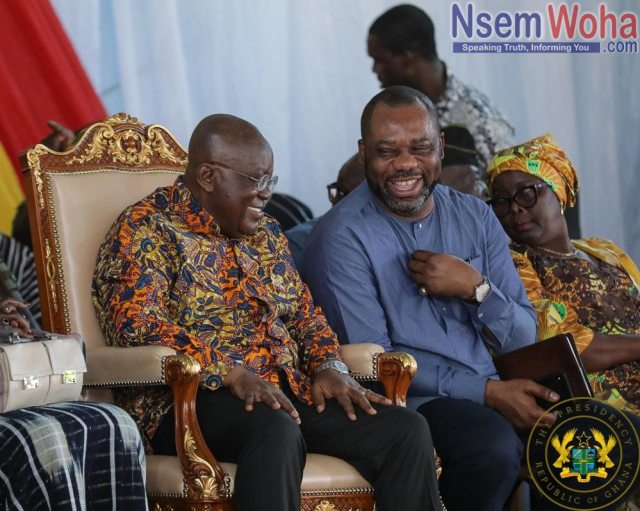 President Akufo-Addo and Matthew Opoku prempeh discuss free SHS