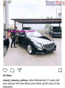 Sharraf Mahama shows off benz and mansion