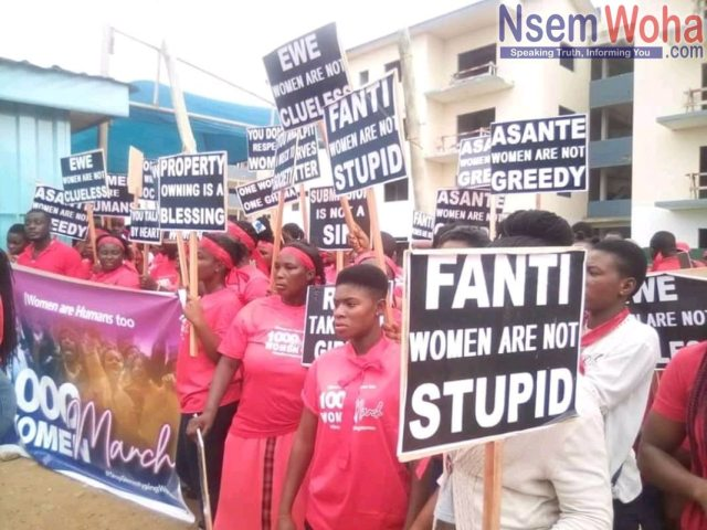 1000 women March demonstrate at Badu kobi church at sakumono