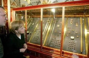 Angela Merkel at the Dresden museum