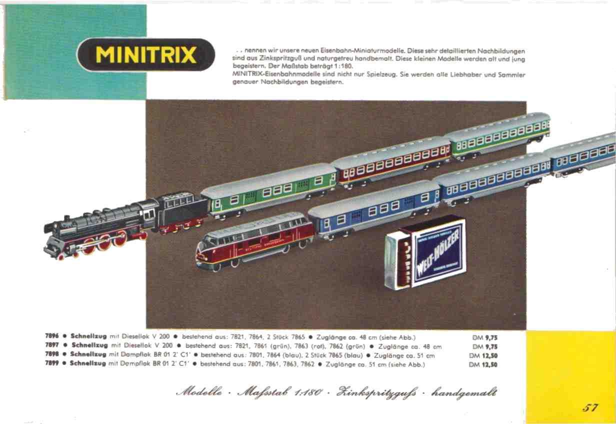 Estratto dal catalogo Trix Express 1962
