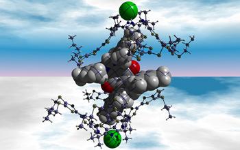 Set od različitih molekula susreta, razmjene elektrona, onda rastavljati zbog klorid iona prisutnih