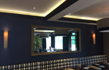 Large Framed Mirror in a Bar Fitout