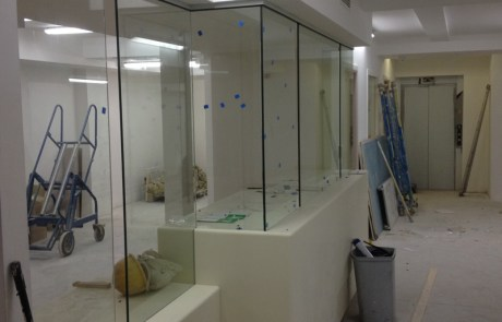 Reception Counter Glass Dividers