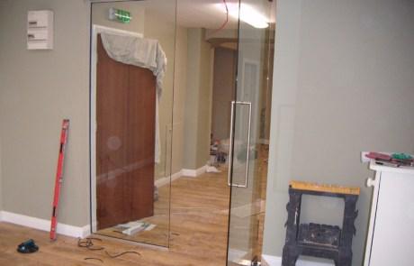 Glass Office Doorway screen