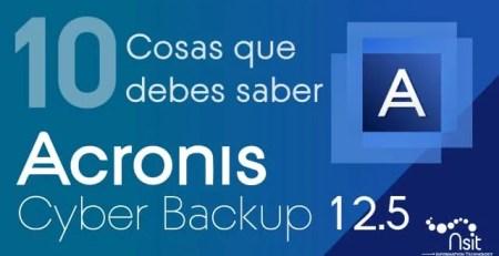 Acronis Cyber Backup 12.5 Nsit
