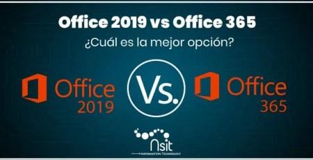 Office2019 vs Office365 Cuál es la mejor opción nsit