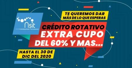 credito rotativo de nsit extra cupo del 60 para el 2020