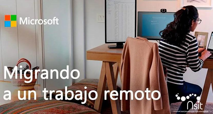 Microsoft teams gratis migrando a un trabajo remoto con nsit