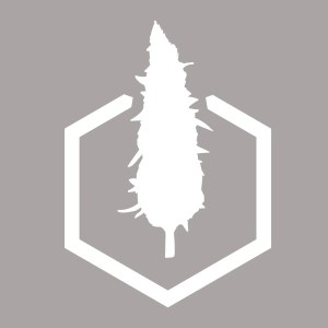 White Northern Standard hexnug logo sticker