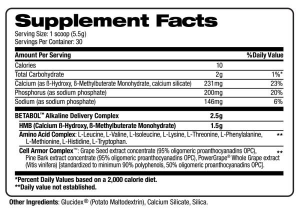 betabol supplement facts